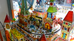 Carousel in toy store Stock Footage