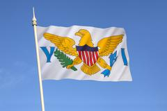 Flag of the United States Virgin Islands Kuvituskuvat