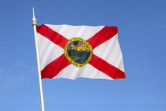 Flag of Florida - United States of America - stock photo