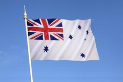 Australian White Ensign - Royal Australian Navy - stock photo