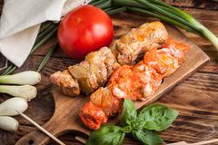 Grilling shashlik. Stock Photos