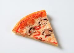 Pizza with mushrooms and mozzarella Stock Photos