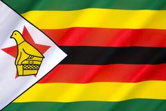 Flag of Zimbabwe - stock photo