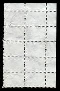 Reverse side of a postage stamp. Stock Photos