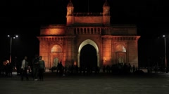 Gateway of India in Mumbai, India Stock Footage