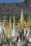 Shwe Inn Thein Temple - Ithein - Inle Lake - Myanmar Stock Photos