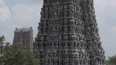 Stock Video Footage of Meenakshi Amman Temple in Madurai, India