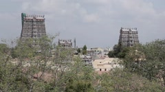 Meenakshi Amman Temple in Madurai, India Stock Footage