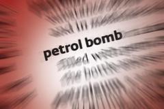 Petrol Bomb - Molotov cocktail - stock photo