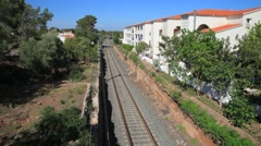 Passenger train in Spain Stock Footage