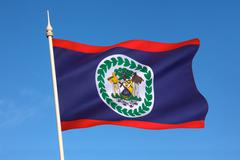 Flag of Belize - Central America Stock Photos