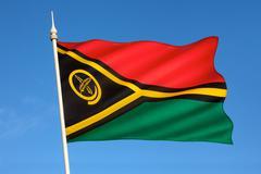 Flag of Vanuatu - South Pacific Stock Photos