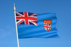 Flag of Fiji - South Pacific Stock Photos