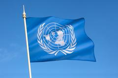 Flag of the United Nations Stock Photos