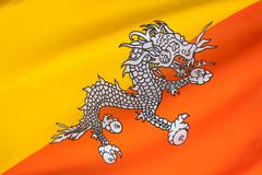 Flag of Bhutan Stock Photos