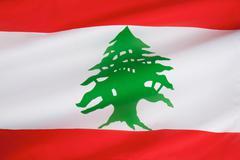 Flag of Lebanon - stock photo