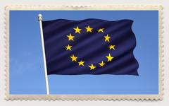 Postage stamp - European Union Stock Photos