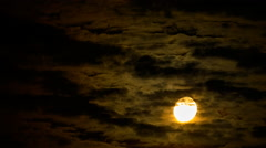 Moon behind the clouds - stock footage