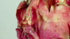 EXOTIC ASIAN DRAGON FRUIT - Macro Dolly Close up of Skin Stock Footage