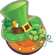 The leprechaun's hat Stock Illustration