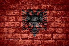 flag of Albania - stock illustration