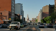 4th Avenue Traffic in Brooklyn Park Slope Stock Footage