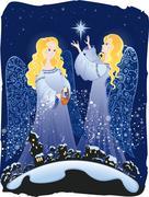 Christmas angels Stock Illustration