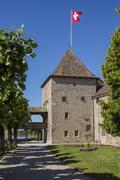Rolle Castle - Lake Geneva - Switzerland - stock photo