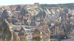 Cappadocia turkey village 11 Stock Footage