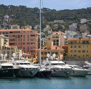 Port of Nice - Cote d Azur - South of France. Stock Photos