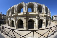 Roman Amphitheater - Arles - South of France - stock photo