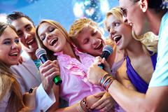 Song of friends - stock photo
