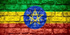 Flag of Ethiopia Stock Illustration