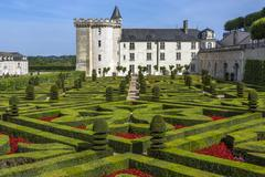 Villandry Chateau - Loire Valley - France Stock Photos