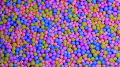 Fun Flying Colorful Balls. - stock footage