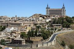 Toledo Alcazar - La Mancha - Spain Stock Photos