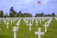 War Cemetery - La Somme - France Stock Photos