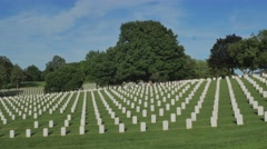 Leavenworth National Cemetery Stock Footage