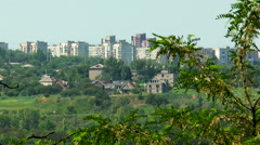 Mariupol. Ukraine. area of the city on the hill Stock Footage
