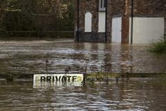 Yorkshire Flooding - England Stock Photos