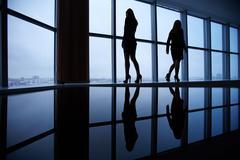 Outlines of businesswomen - stock photo