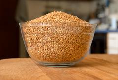Buckwheat on the table creeping utensils Stock Photos