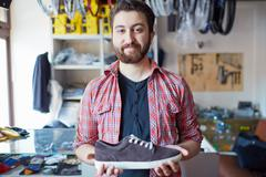 Selling footwear Stock Photos