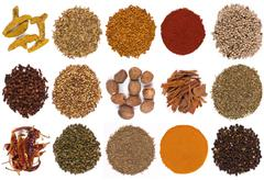 Cooking Spices - Flavorings - Seasoning Stock Photos