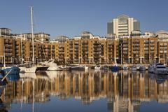 St. Katharines Dockyard - London - England Stock Photos