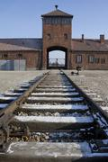 Birkenau Nazi Concentration Camp - Poland Stock Photos