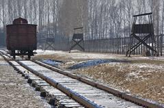 Birkenau Nazi Concentration Camp - Poland - stock photo