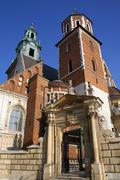 Krakow - Royal Cathedral - Wawel Hill - Poland Stock Photos