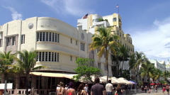 Cardozo hotel in the Miami Beach Art Deco District Stock Footage