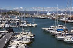 Antibes Harbor - South of France - stock photo